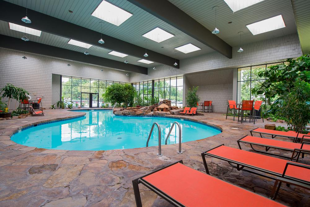 Beautiful swimming pool at apartments in Wichita, Kansas
