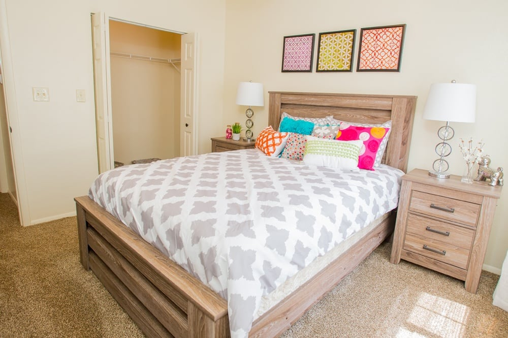Bedroom at Sheridan Pond in Tulsa