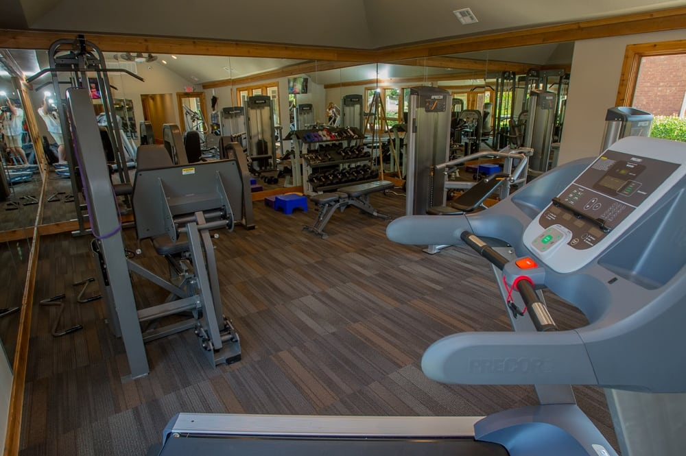 Use the fitness facility at Sheridan Pond