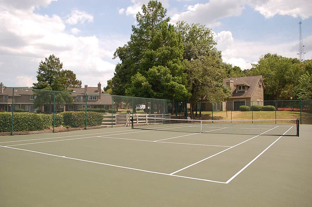 Sheridan Pond offers tennis courts to current residents