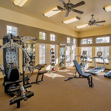 Workout facilities at Canyon Ranch