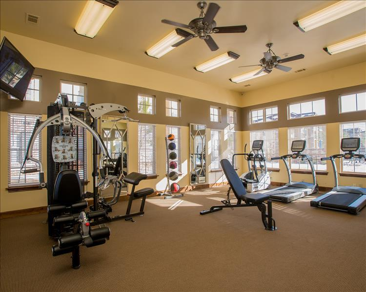 Stay fit in our well equipped fitness center in Yukon, OK