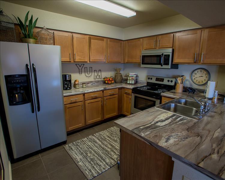 Spacious kitchen at Canyon Ranch in Yukon, OK