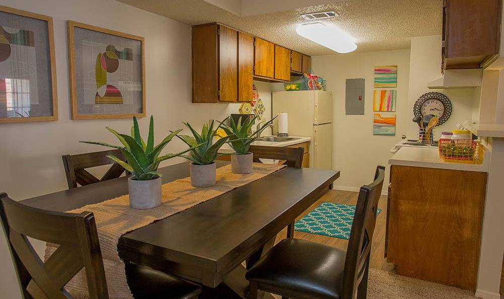 Enjoy a meal in your new home at Cimarron Trails Apartments