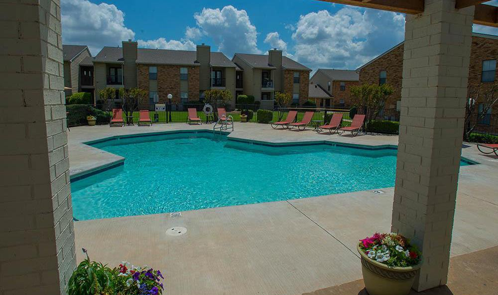 Enjoy our sparkling swimming pool at Cimarron Trails Apartments in Norman