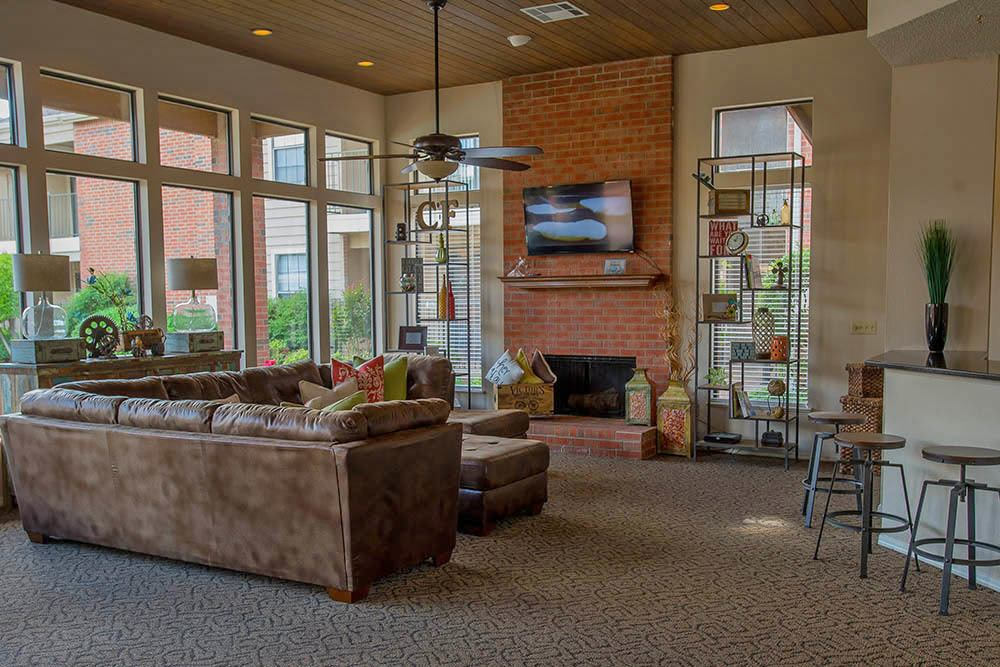 Enjoy our large clubhouse at Copperfield Apartments
