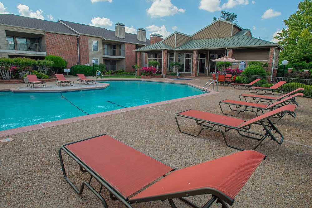 Enjoy the sun poolside at Copperfield Apartments in Oklahoma City