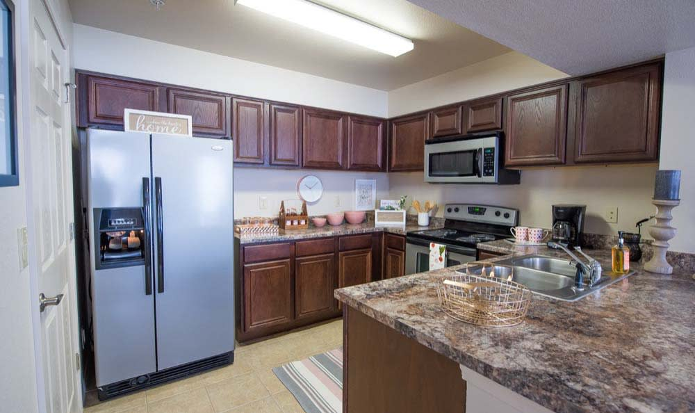 Spacious kitchen at Fountain Lake