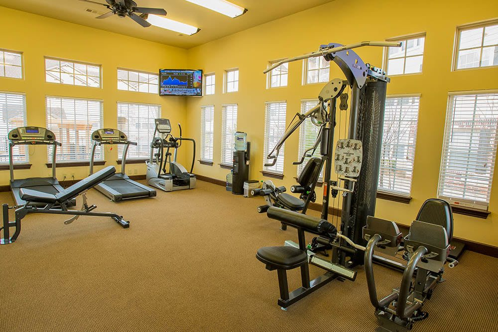 Keep fit in our on-site fitness center at Park at Tuscany