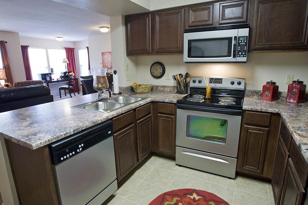 Our kitchens feature luxurious amenities at Park at Westpointe