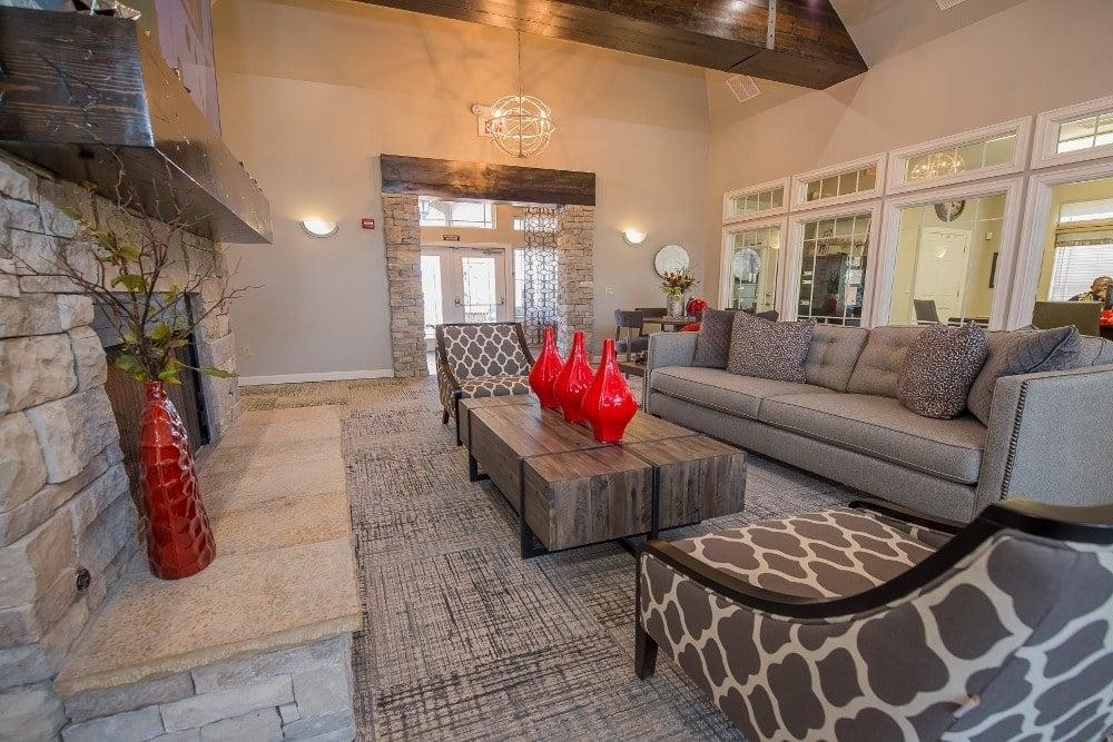Living room at Park at Westpointe