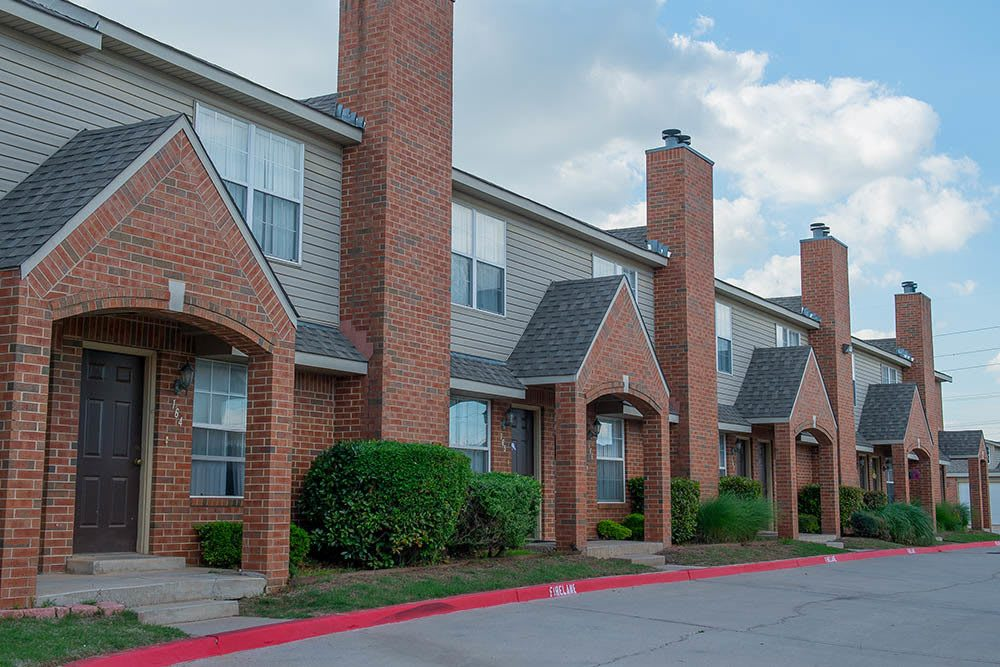 Exterior of our apartments in Oklahoma City, OK