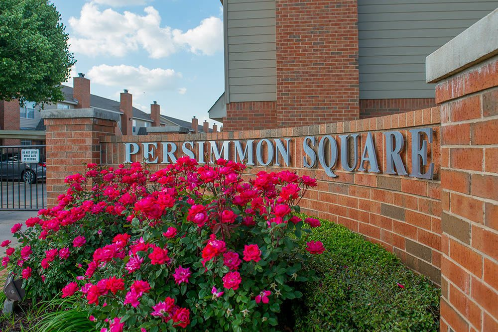 Signage at Persimmon Square Apartments in Oklahoma City