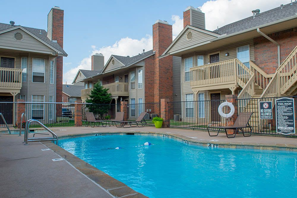 Take a dip in our refreshing pool at Persimmon Square Apartments