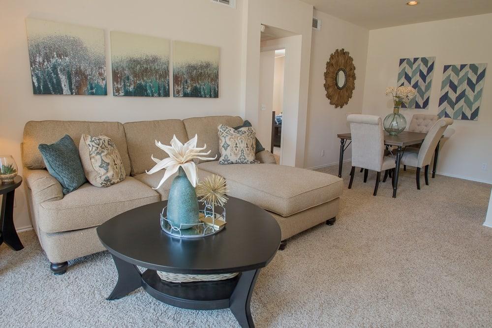 Living room at Prairie Springs