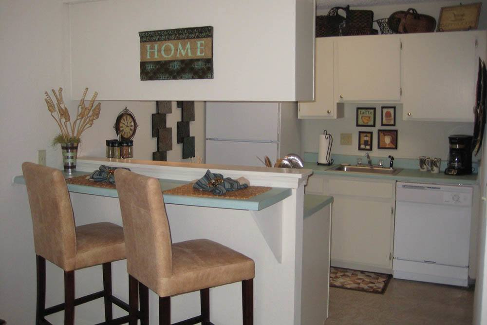 Enjoy your morning at the breakfast bar at Summerfield Place Apartments