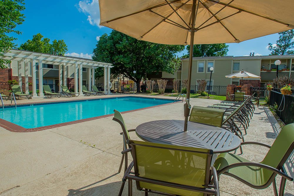 Cool off in our sparkling pool at Summerfield Place Apartments
