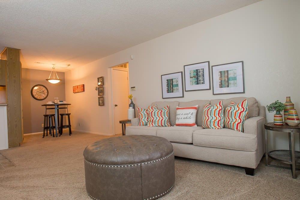 Living room at Oklahoma City apartments
