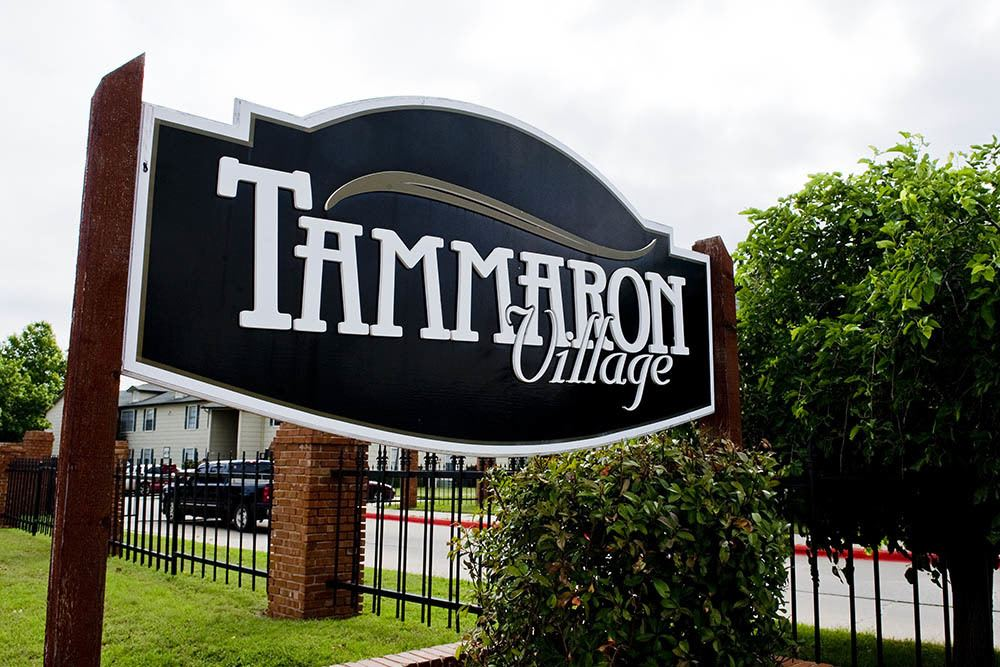 Signage at Tammaron Village Apartments in Oklahoma City