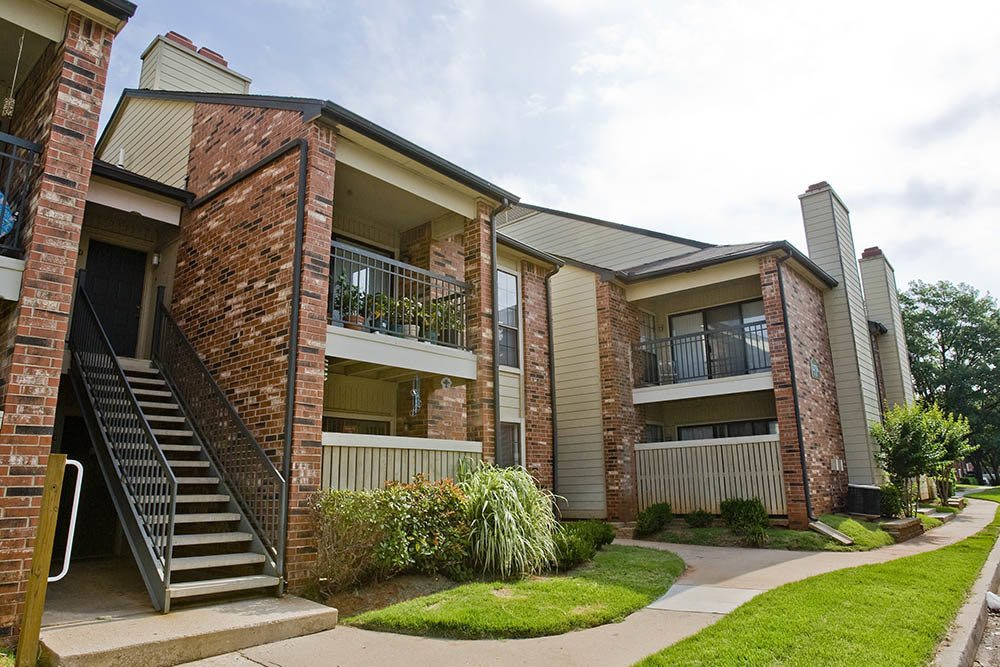 Exterior of our apartments in Oklahoma City