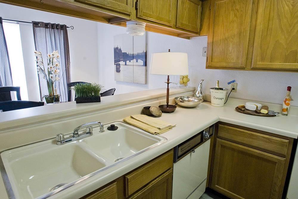 Kitchen at Warrington Apartments in Oklahoma City
