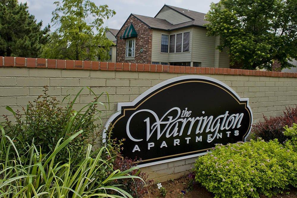Signage at Warrington Apartments