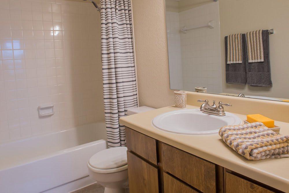 Bright bathroom at Apartments in Oklahoma City