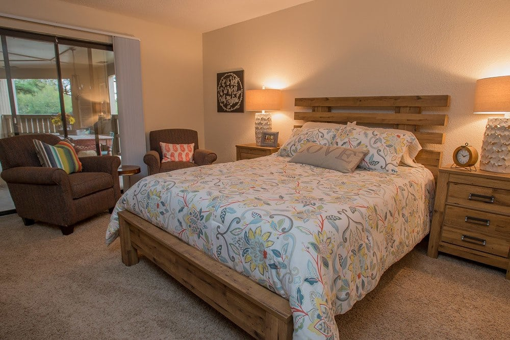Large Bedroom at Woodscape Apartments in Oklahoma City