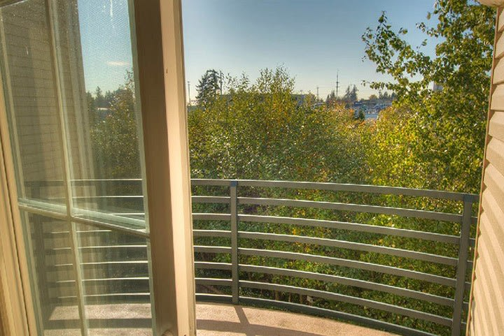 Patio view in Lynnwood senior living community