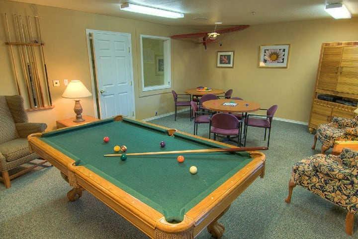 Senior living in Lynnwood offering a game room