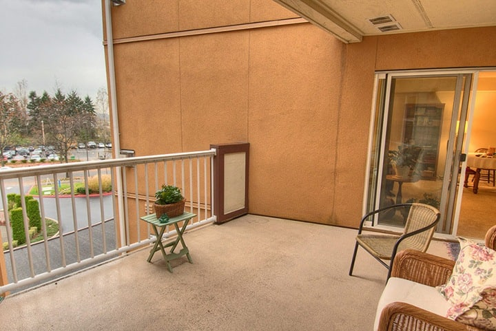 Patio view inside Renton senior living