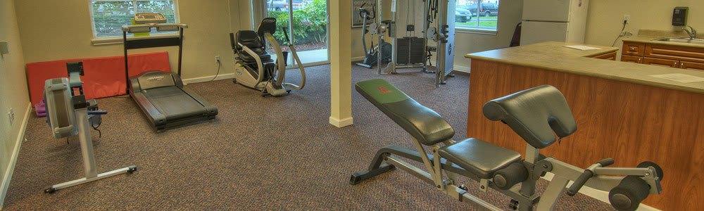 The fitness center at senior living in Renton