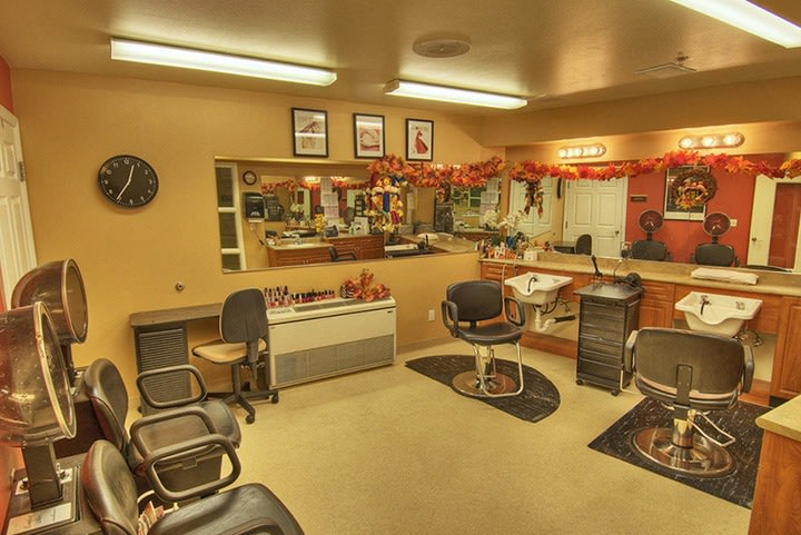 Beauty salon at the senior living community in Renton