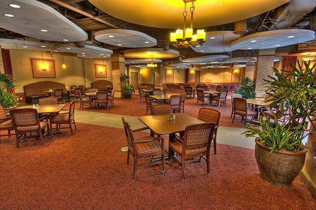 Dining room inside Chateau Retirement Communities
