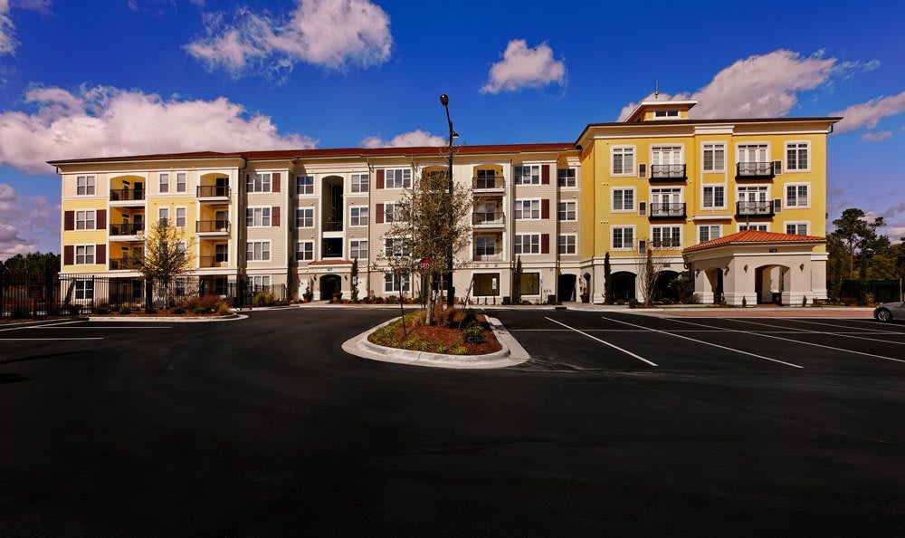 Exterior of The Villagio and parking