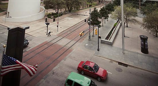 street view of downtown Dallas