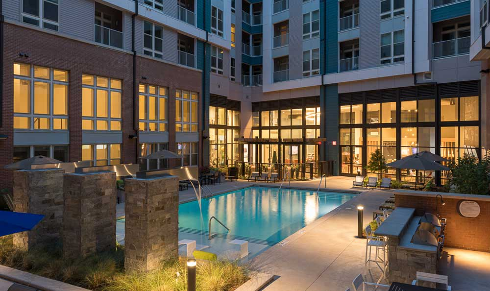 Pool at apartments in Chapel Hill
