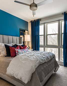 Luxury bedroom interior at Berkshire Chapel Hill
