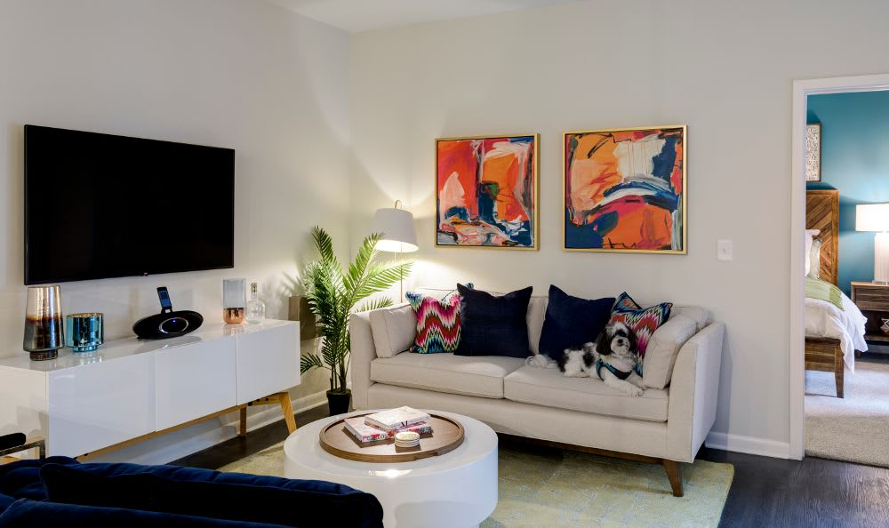 Model living room at Berkshire Chapel Hill