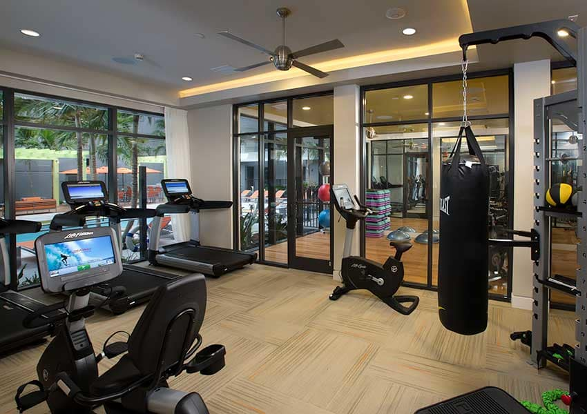 Fully equipped resident gym at Berkshire Coral Gables