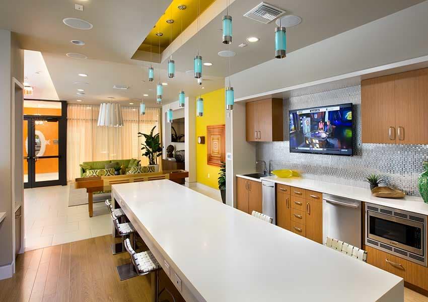 Community kitchen at Berkshire Coral Gables