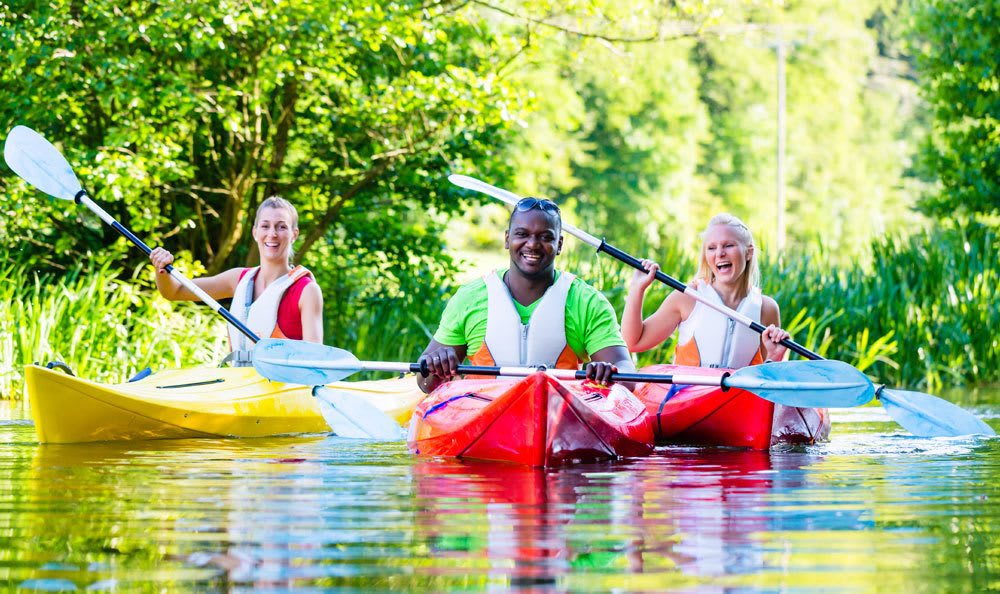 our apartment community offers kayak and paddleboard storage