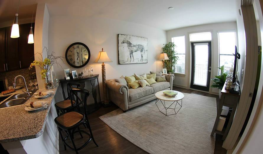 Living Room area at Artisan on 18th