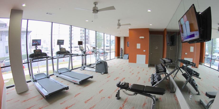 Enjoy access to a private fitness center at Artisan on 18th in Nashville, Tennessee