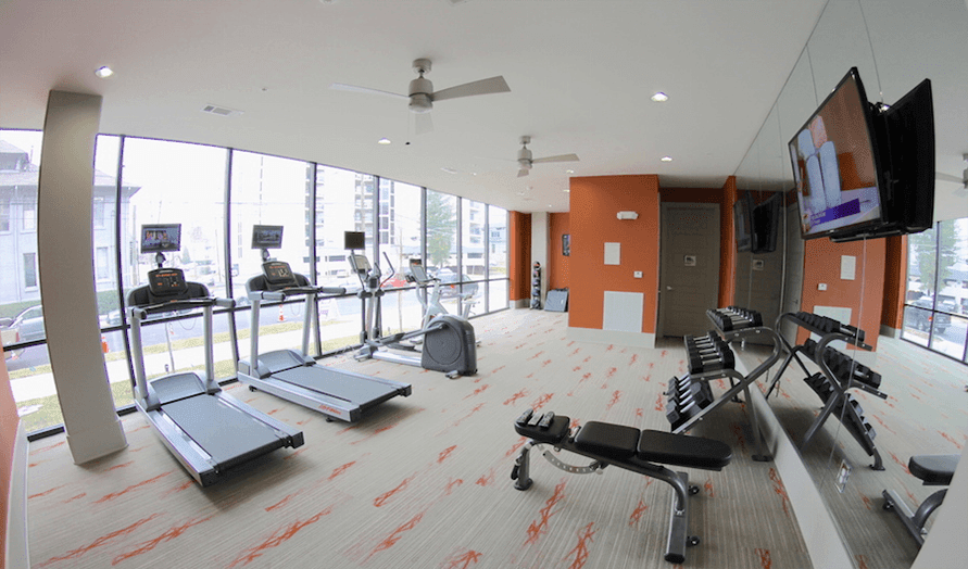 Try out our fitness center at Artisan on 18th in Nashville, Tennessee