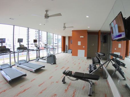 Fitness center at our apartment community at Artisan on 18th in Nashville, Tennessee