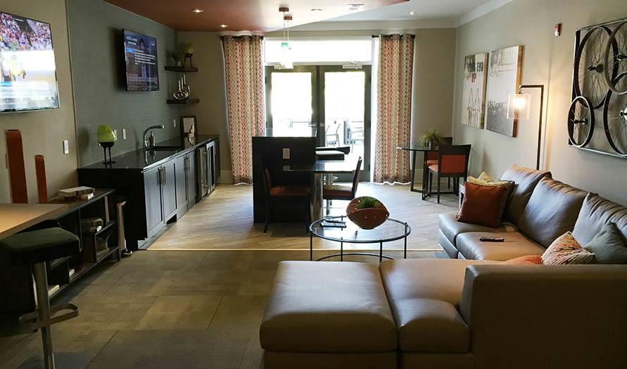 Beautiful kitchen at apartments in Nashville