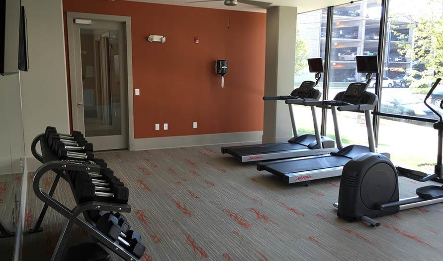 State of the art fitness center at Artisan on 18th in Nashville, Tennessee