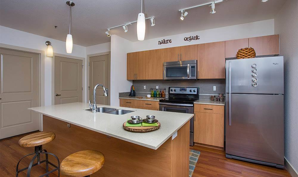 Our kitchens feature luxury fixtures and amenities