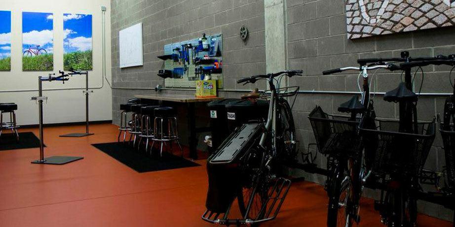 Indoor bike storage at our denver apartments